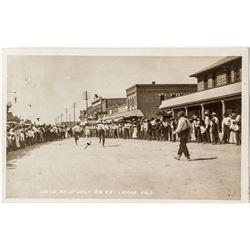 1909 4th of July Foot race Postcard