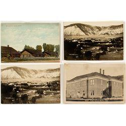 Meeker, Colorado Birds Eye and Building Postcards