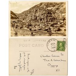 Photo Postcard addressed to Edison