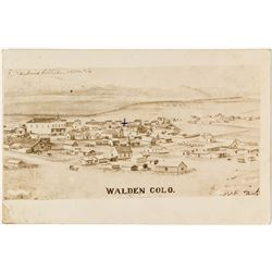 Sketching of the Town of Walden Postcard
