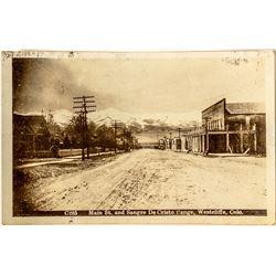 Westcliffe Main Street Photo Postcard