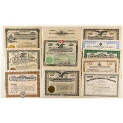 Miscellaneous Colorado Non-Mining Stock Certificates