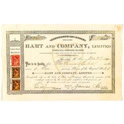 Hart & Company Stock Certificate (Candy & Ice Cream)