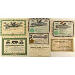 Hawaiian Stock Certificate Collection (7)