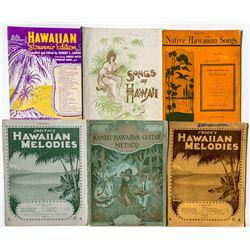 Six Hawaii Songbooks
