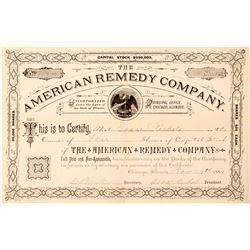 American Remedy Company Stock Certificate