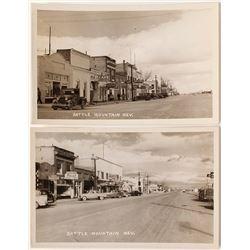 Battle Mountain Main Street Photo Postcards #2