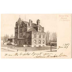 Carson City Post Office Postcard #1