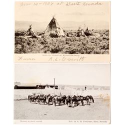 Cowboys and Indian Postcards from Elko County