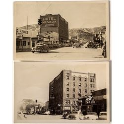 Two Downtown Ely Real Photo Postcards