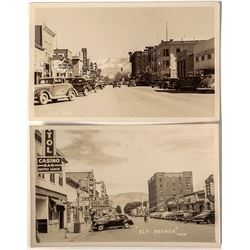 Two Ely Main Street Real Photo Postcards