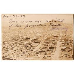 Goldfield Real Photo Postcard with Interesting Note