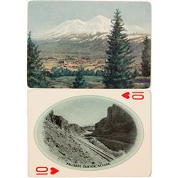 Early Southern Pacific Railroad Playing Card; Palisade