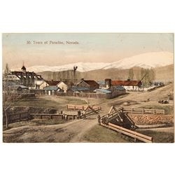 Rare Paradise, Nevada Postcard