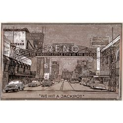 Metallic Reno Arch Postcard