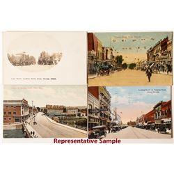 Reno Street Scene Color Postcards