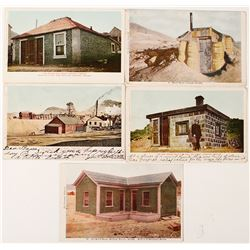 Early hand colored Postcards; Tonopah