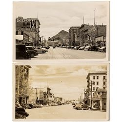 Main Street Tonopah Photo Postcards