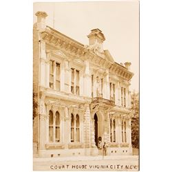 Strong Real Photo Postcard of Virginia City Court House