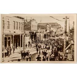C Street Gathering in Virginia City