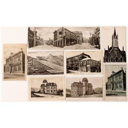 Nine Different Black & White Virginia City Postcards