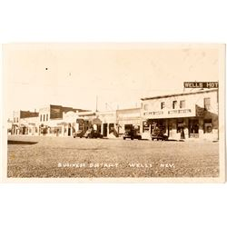 Wells Business District Photo Postcard