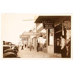 Wells Main Street Photo Postcard