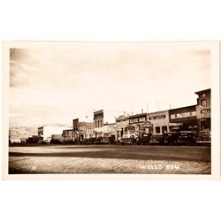 Wells, Nevada Street Views Postcard