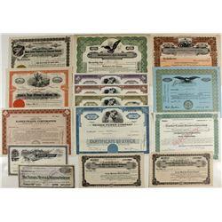 Non-mining stock certificates