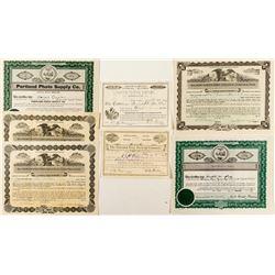 Oregon Non-Mining Stock Certificates