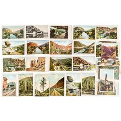 Echo Canyon and Weber Canyon, Utah Scenic Postcards