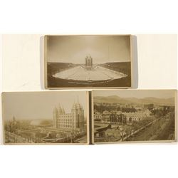 Mormon Temple & Brigham Young House Cabinet Cards