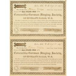 Washington Territorial Singing Society Stock Certificates