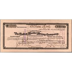 The Bates-Hunter Mining Company Stock Certificate 2