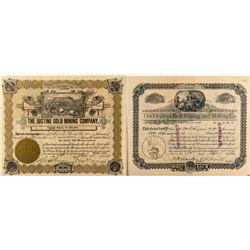Two pre-1900 Cripple Creek Mining Stock Certificates