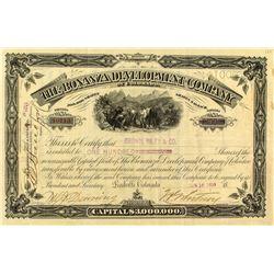The Bonanza Development Company of Colorado Stock Certificate