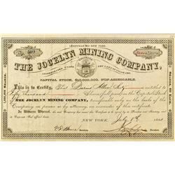 The Jocelyn Mining Company Stock Certificate for 50,000 shares