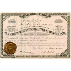 The Little Corinne Consolidated Mining Company Stock Certificate