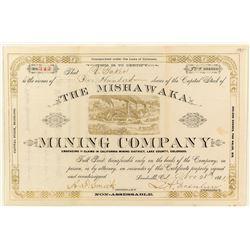 The Mishawaka Mining Company Stock Certificate