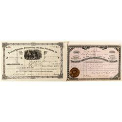 Two Good Leadville Mining Stock Certificates