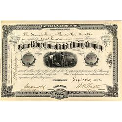 Game Ridge Consolidated Mining Company Stock Certificate
