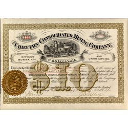 The Chieftain Consolidated Mining Company Stock Certificate