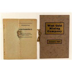 Colorado & Wyoming Mining Prospectuses