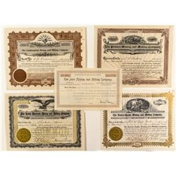 Colorado Mining and Milling Company Stock Certificates