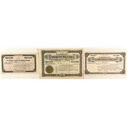 Colorado Mining Leasing Company Stock Certificates