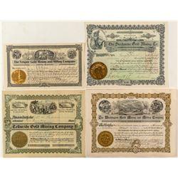 Colorado Mining Stock Certificates (4)