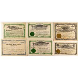 Colorado Mining Stock Certificates (Black Hawk, Leadville, Park County, Etc)