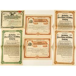 Colorado Placer Gold Mining Bonds & Stock Certificates