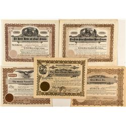 Five Colorado Mining Stock Certificates