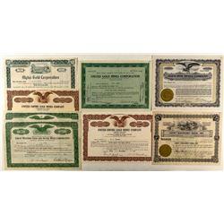 Post 1930 Colorado Mining Stock Certificates